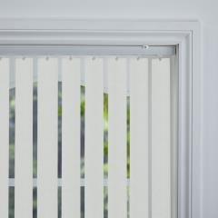 Rigid PVC Vertical Blinds Kuta Blackout Gesso Rigid PVC
