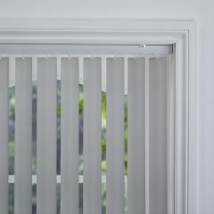 Rigid PVC Vertical Blinds Occa Blackout Carbon Rigid PVC