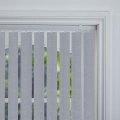 Rigid PVC Vertical Blinds Serino Blackout Carbon Rigid PVC