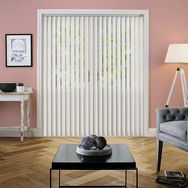 Amaris Beige 89mm Vertical Blind. Direct Blinds
