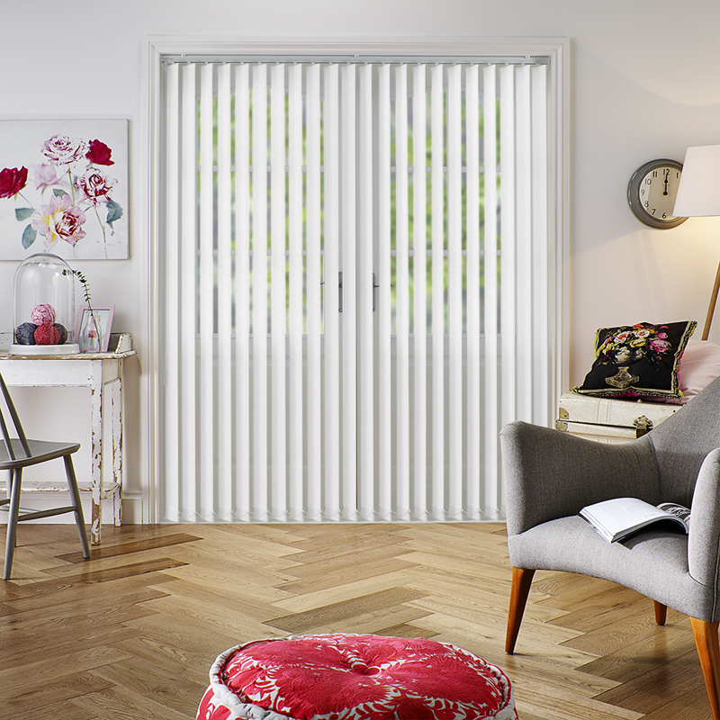 Amaris White 89mm Vertical Blind Slats. Direct Blinds