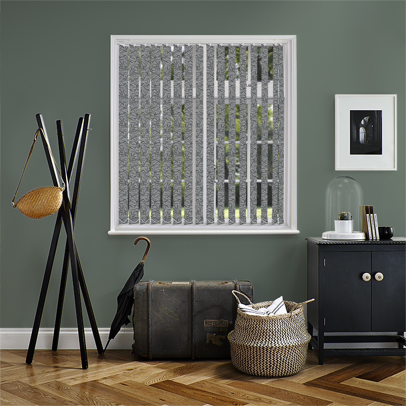 Bamboo Black 89mm Vertical Blind Slats