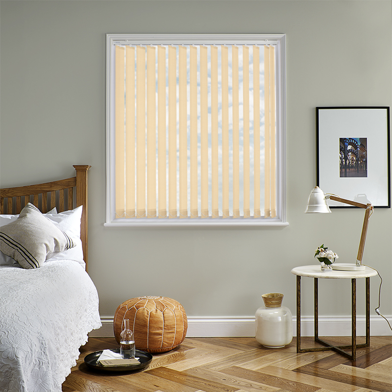 Bermuda Plain Champagne 89mm Vertical Blind Slats