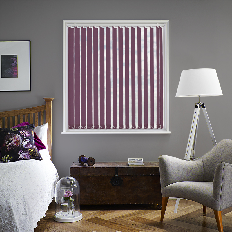 Bermuda Plain Fuchsia 89mm Vertical Blind Slats