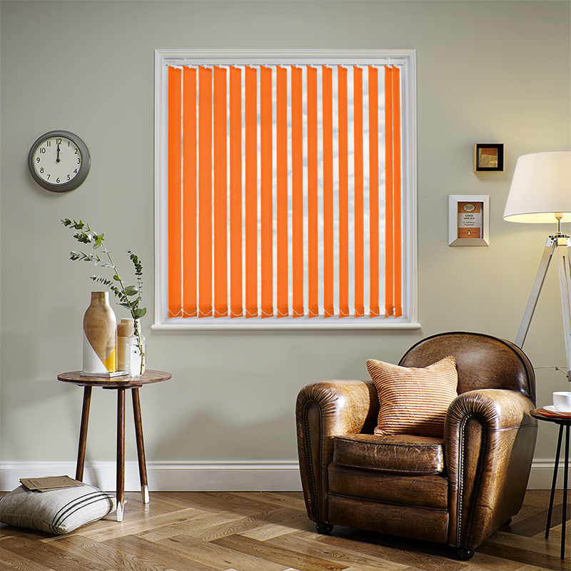 Bermuda Plain Orange 89mm Vertical Blind Slats