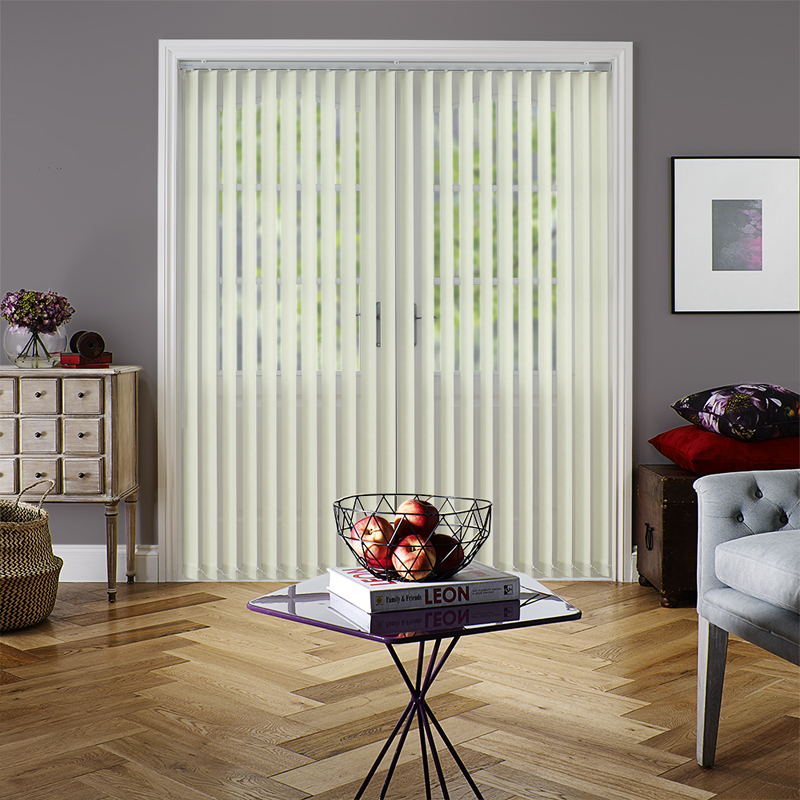 Candy Stripe Cream 89mm Vertical Blind Slats