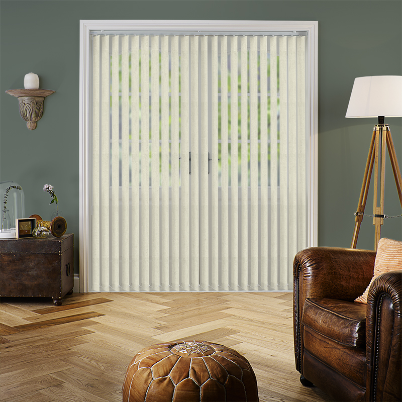 Fiesta Cream 89mm Vertical Blind Slats