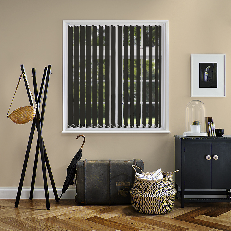 Genesis Black 89mm Vertical Blind Slats