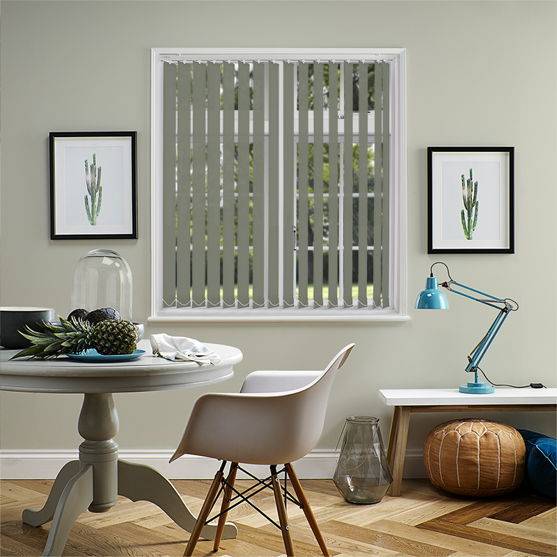 Genesis Dark Grey 89mm Vertical Blind Slats