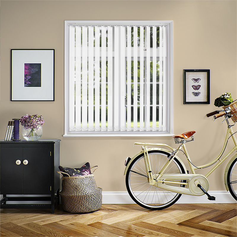 Genesis White 89mm Vertical Blind Slats