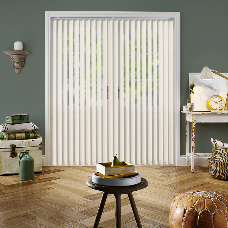 Ice Drops Beige 89mm Vertical Blind Slats