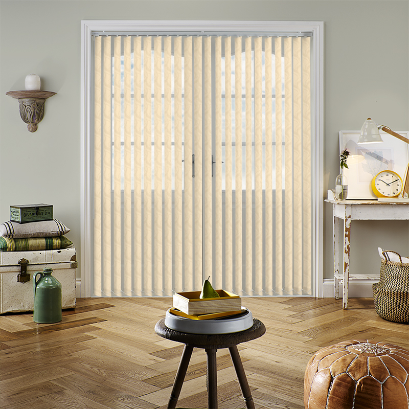 Jacamar Almond 89mm Vertical Blind Slats