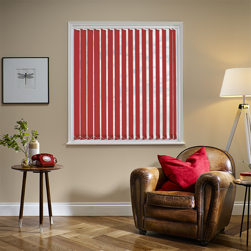 Red Blinds. Made to Measure from Direct Blinds.