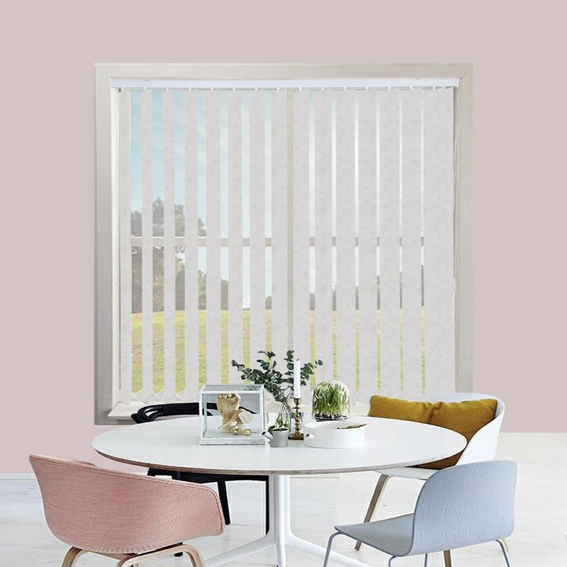 Asteria White 89mm Vertical Blind Replacement Slats