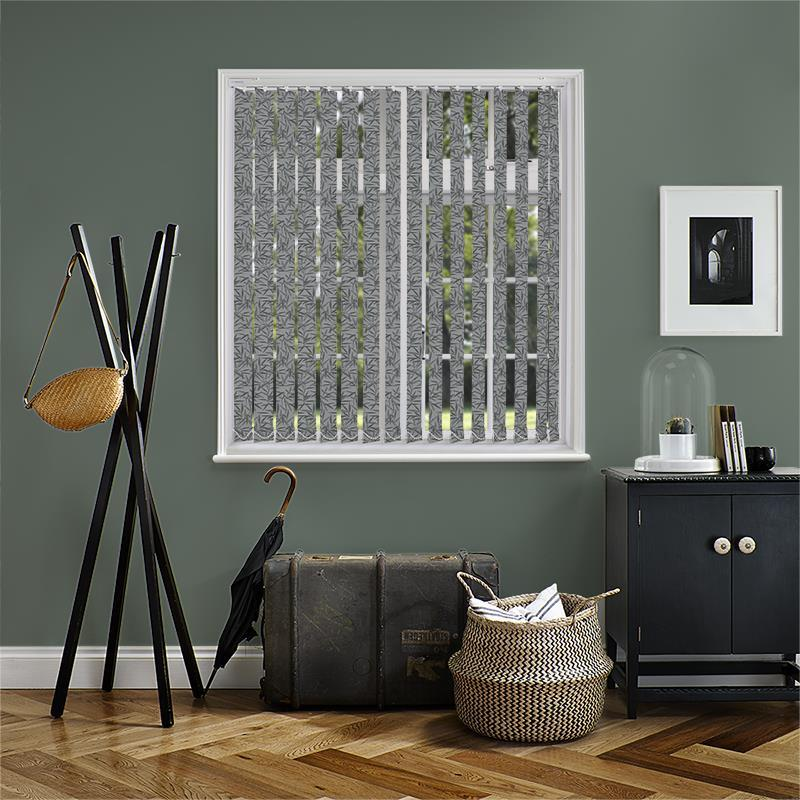 Bamboo Black 89mm Vertical Blind Replacement Slats Direct