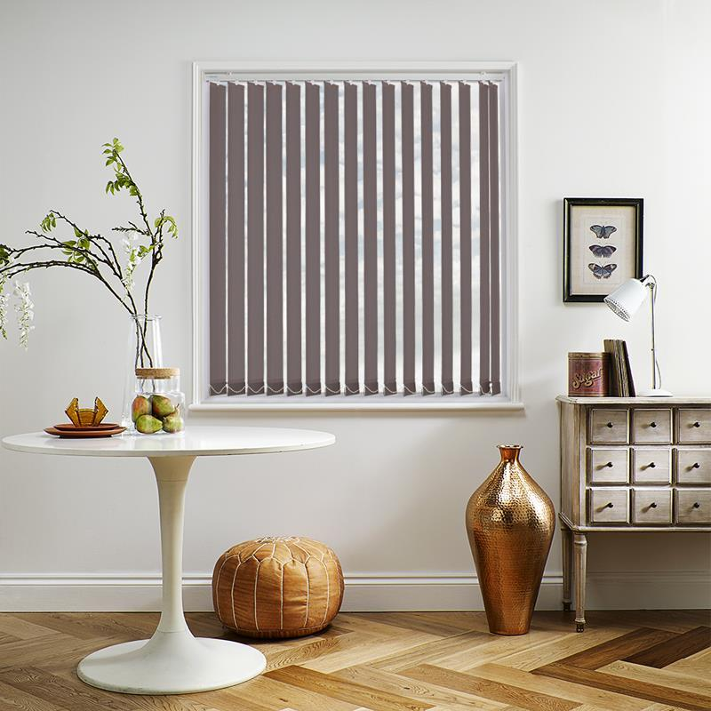 Banlight Duo Blackout Taupe 89mm Vertical Blind Direct Blinds