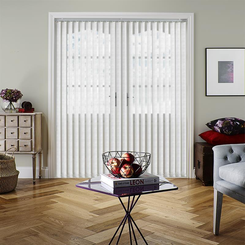 Opus White 89mm Vertical Blind Replacement Slats Direct