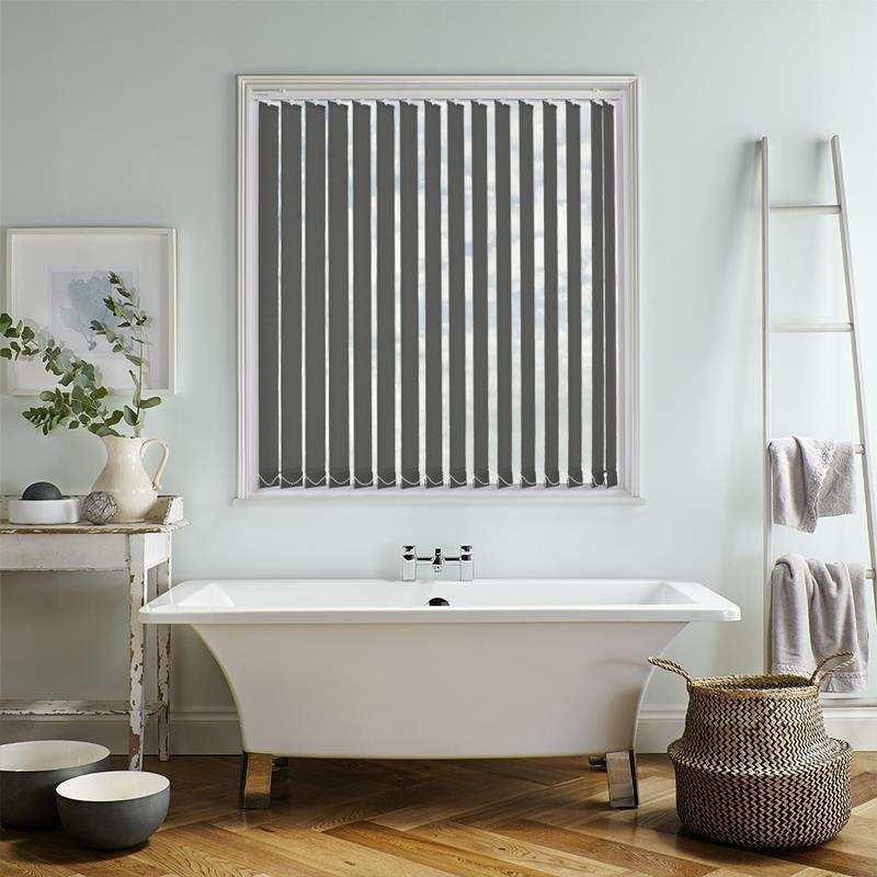 Bermuda Plain Dark Grey 89mm Vertical Blind Direct Blinds