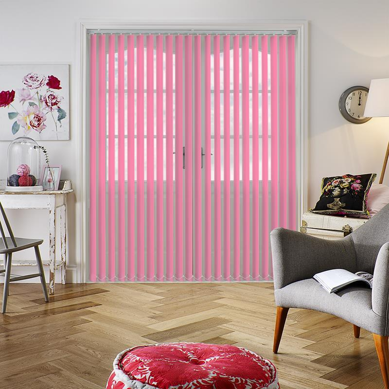 Vitra Blackout Kitty Pink 89mm Vertical Blind Direct Blinds