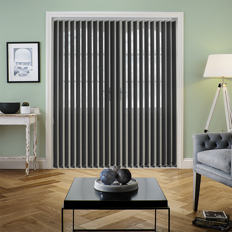Tern Black 89mm Vertical Blind Slats