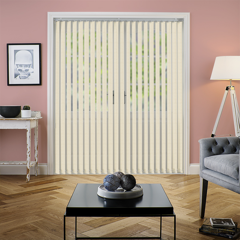 Zara Cream 89mm Vertical Blind Direct Blinds