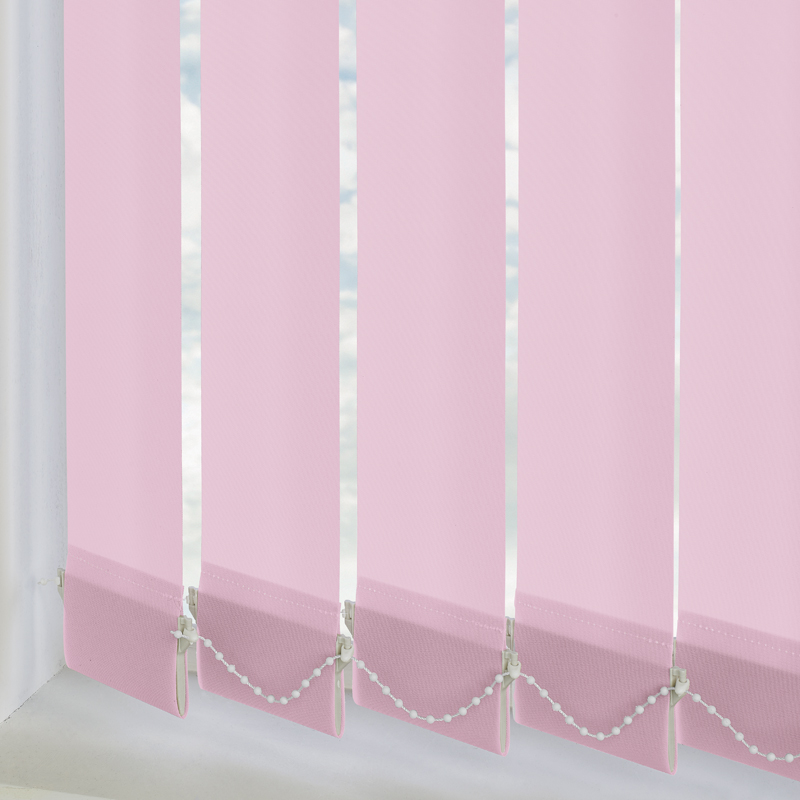 Vitra Blackout Bambino Pink 89mm Vertical Blind Slats