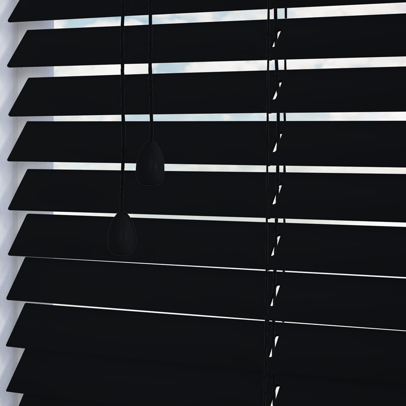 black wooden blinds. Mississippi 35mm Black Wooden Blinds O