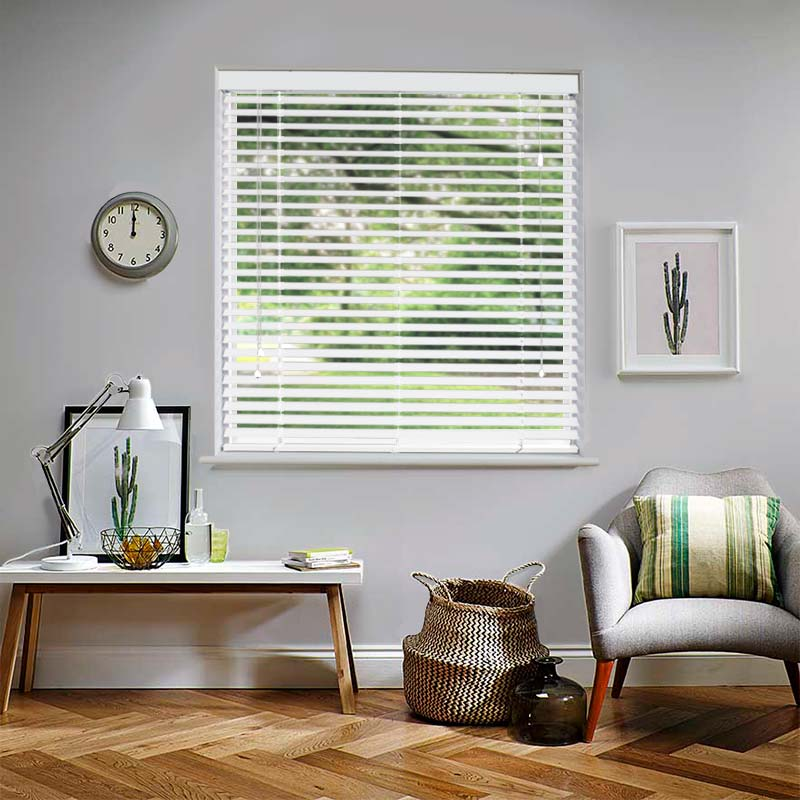 Mississippi 50mm White Real Wood Swift Direct Blinds