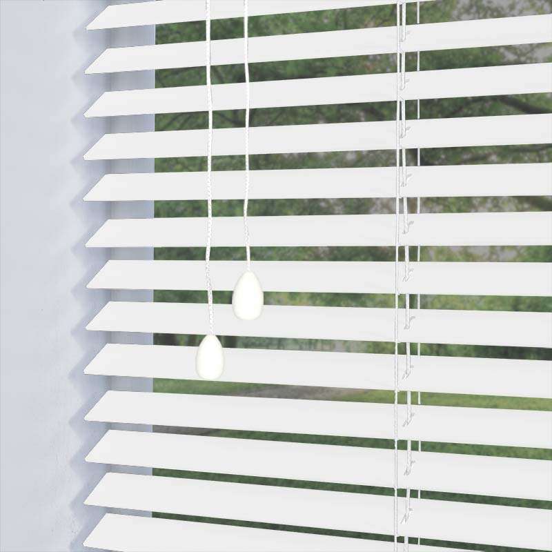 Nile 25mm White Real Wood Direct Blinds