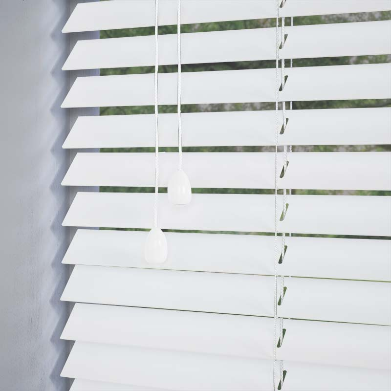Nile 35mm White Real Wood Direct Blinds