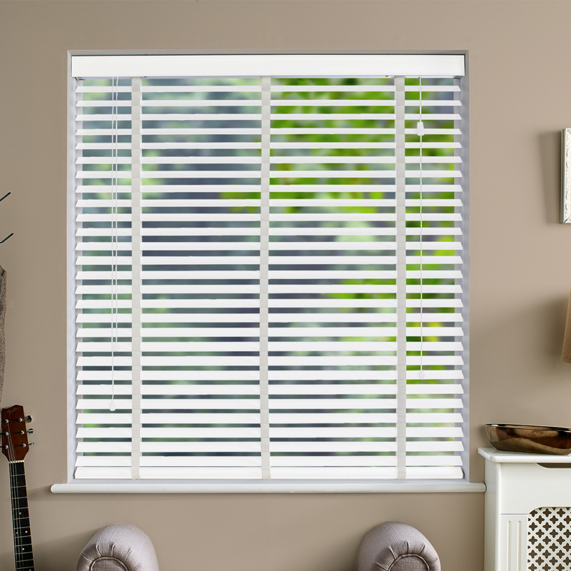 Ecostyle 50mm Taped Faux Frost Smooth Wooden Blind Direct