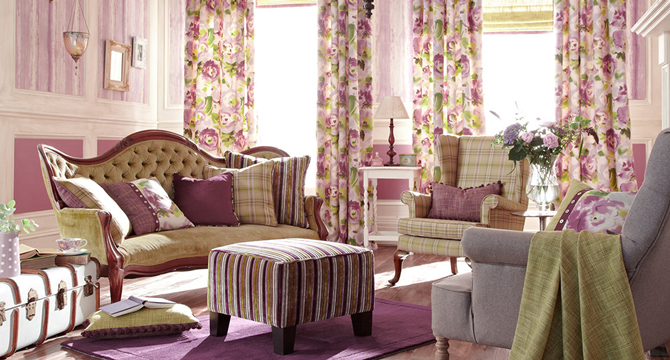 Floral blinds and curtains - an easy way to bring nature inside