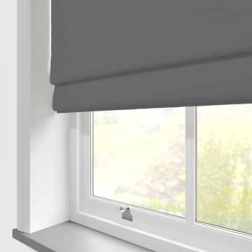 Roman Blinds Faux Suede Deluxe New Grey