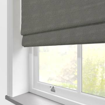 Roman Blinds Hopsack Clay