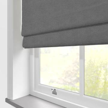 Roman Blinds Hopsack Mercury