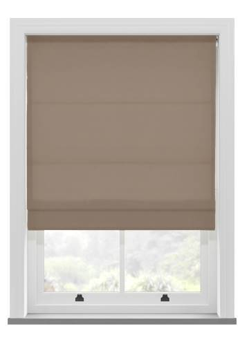 Roman Blinds Orient Faux Silk Latte Brown