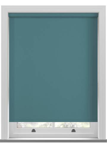 Roller Blinds Bella Blackout Teal Blue