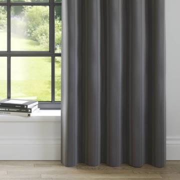 Curtains Faux Suede Charcoal