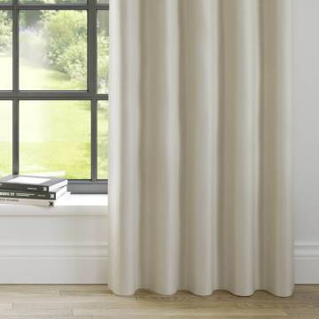Curtains Faux Suede Cream