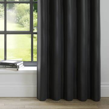 Curtains Faux Suede Deluxe Black