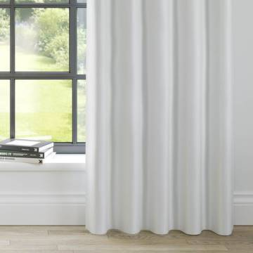 Curtains Faux Suede White