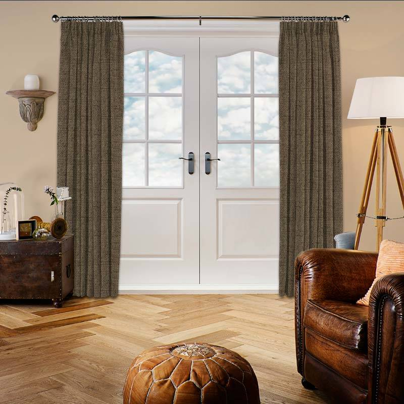Hopsack Truffle Curtain Direct Blinds