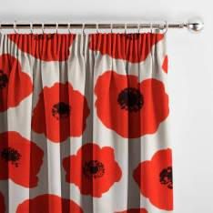 Curtains 70s Poppy Red