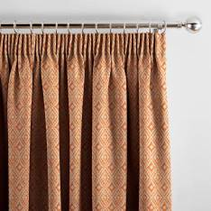 Curtains Aztec Henna Orange
