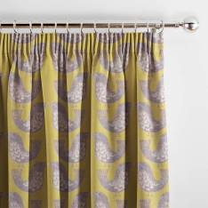 Curtains Scandi Birds Mustard