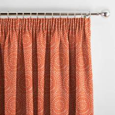 Curtains Whirl Coral Orange
