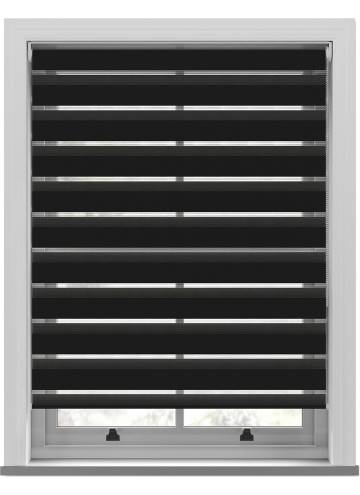 Day and Night Blinds Luna Softshade Jet Black