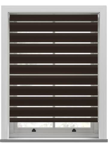 Day and Night Blinds Nobis Softshade Walnut Brown