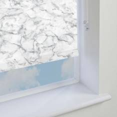 Electric Roller Blinds Marble PVC Blackout Grey