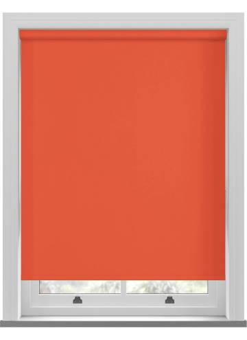 Electric Roller Blinds Bella Blackout Bright Orange